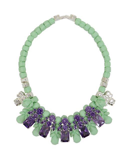 EK Thongprasert - Green Silicone Five Jewel & Metal Neckpiece Mint/amethyst Crystals - Lyst