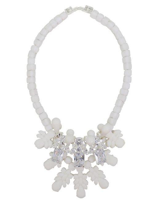 EK Thongprasert - Silicone Three Jewel Neckpiece White/white Crystals - Lyst