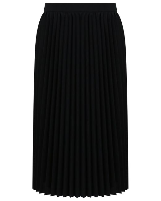 Balenciaga - Sunray Pleated Midi Skirt Black - Lyst