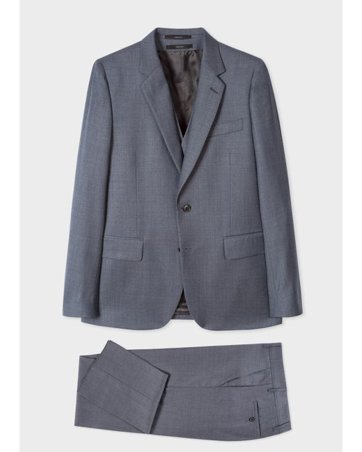 Paul Smith - Gray The Soho - Tailored-fit Dark Grey Three-piece Suit for Men - Lyst
