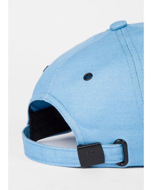 d7f92a76103 ... Paul Smith - Sky Blue Cotton Zebra Logo Baseball Cap for Men - Lyst ...