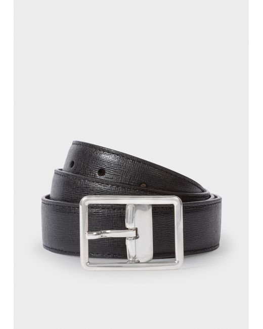 Paul Smith - Black Stripe Webbing Belt for Men - Lyst