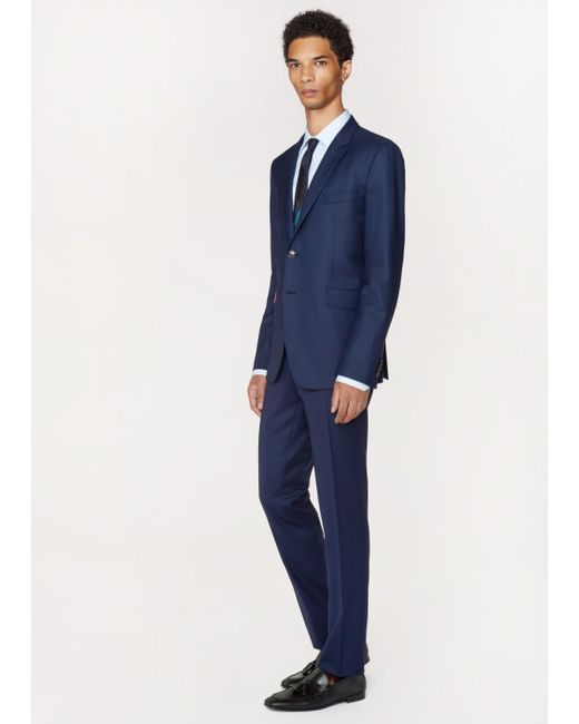 Paul Smith   Blue The Kensington - Men's Slim-fit Navy Puppytooth Wool 'suit To Travel In' for Men   Lyst