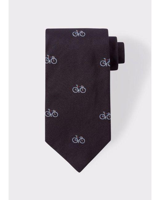 Paul Smith | Men's Black Bike Pattern Silk Tie for Men | Lyst