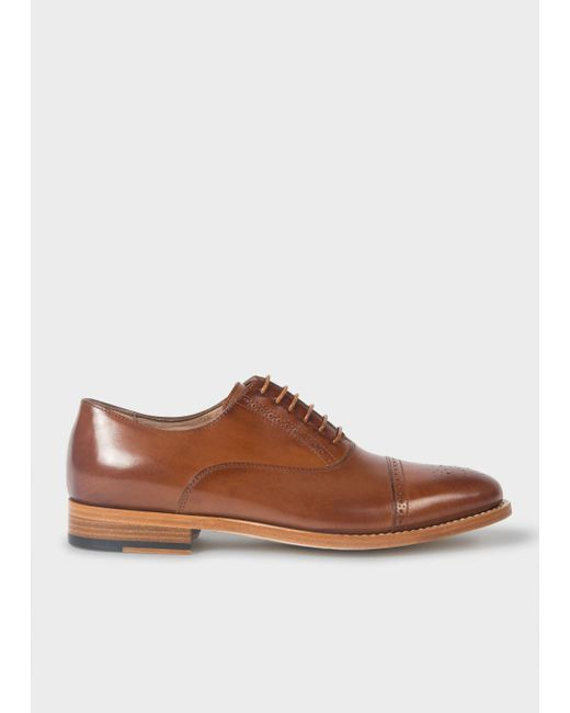 Paul Smith | Brown Women's Tan Leather 'bertie' Brogues | Lyst