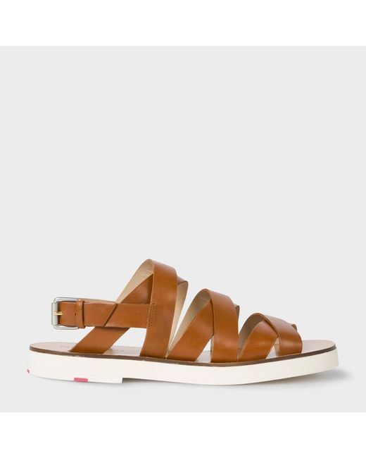 Paul Smith   Brown Women's Tan Leather 'rio' Sandals   Lyst