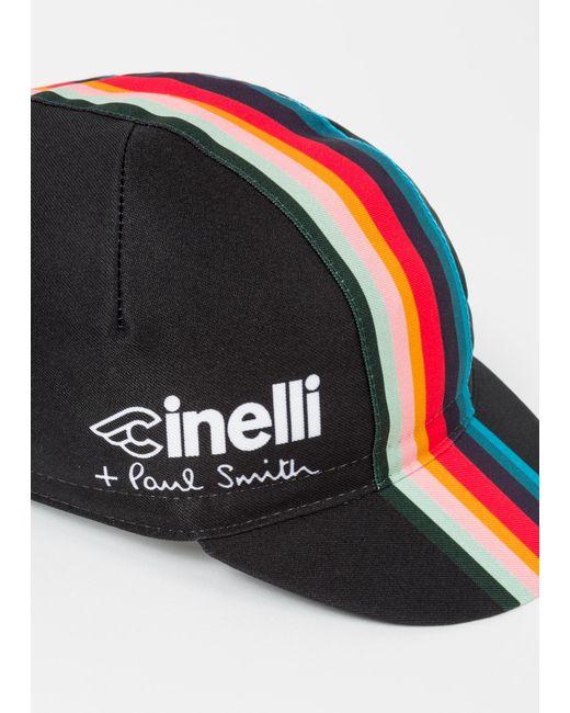 ... Paul Smith - + Cinelli Black  artist Stripe  Band Cycling Cap for Men  ... 0f4056b5e9d7