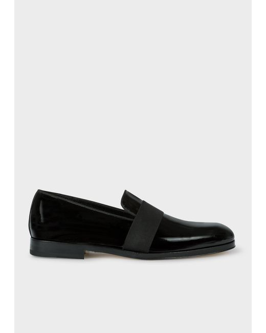 Paul Smith - Black Patent Leather 'Rudyard' Loafers for Men - Lyst