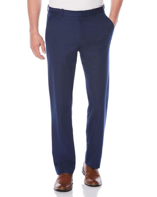 Perry Ellis - Blue Non-iron Tonal Stripe Flat Front Dress Pant for Men - Lyst