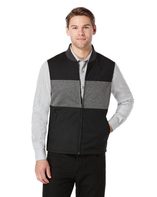 Perry Ellis | Black Colorblock Bonded Knit Vest for Men | Lyst
