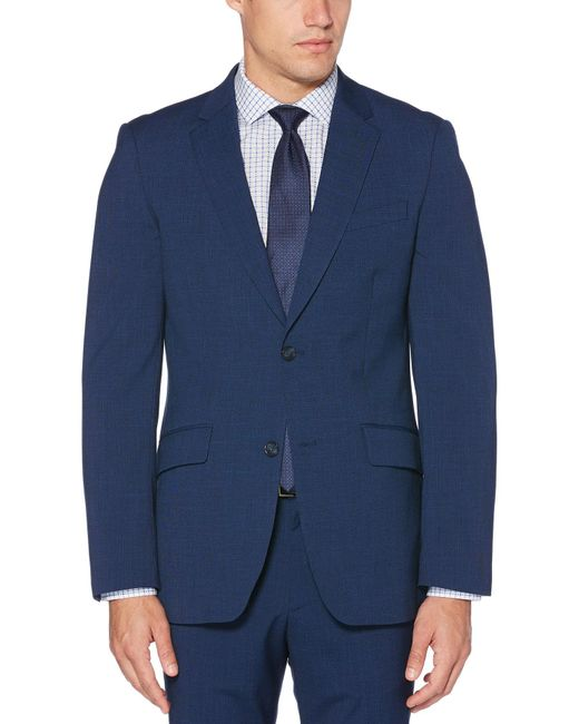 Perry Ellis - Blue Slim Fit Stretch Textured Slub Suit Jacket for Men - Lyst