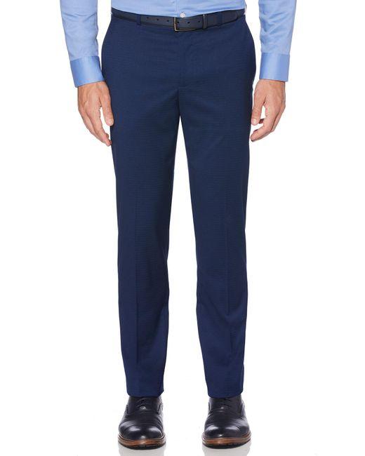 Perry Ellis - Blue Slim Stretch Subtle Pattern Pant for Men - Lyst
