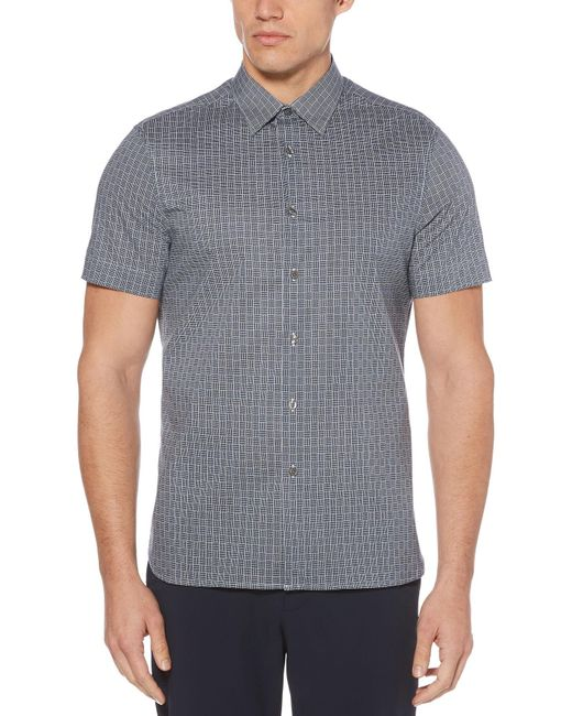 Perry Ellis - Gray Big & Tall Box Weave Shirt for Men - Lyst
