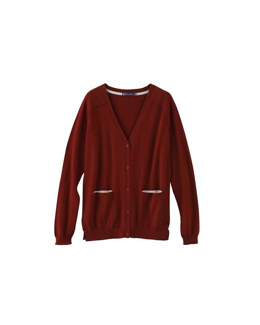 Petit Bateau | Red Women's Cotton Knit Cardigan With A Cashmere Feel | Lyst