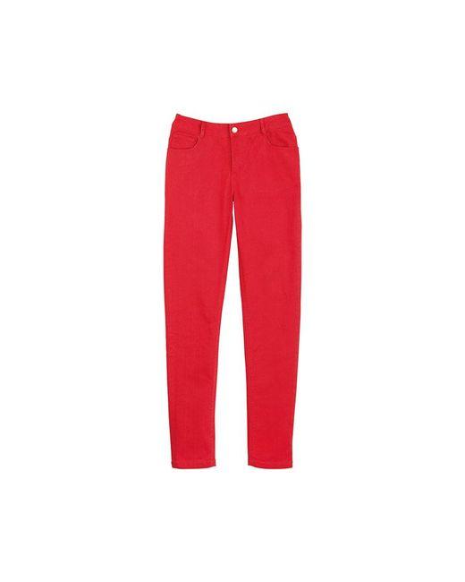 Petit Bateau | Red Women's Slim Pants In Stretch Cotton Cloth | Lyst