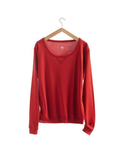 Petit Bateau | Red Women's Long-sleeved Sweatshirt In New Cotton | Lyst