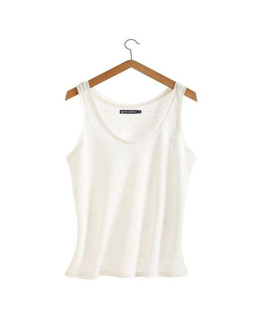 Petit Bateau   White Women's Linen Jersey Tank Top   Lyst