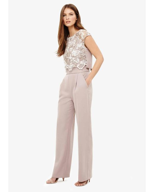 Phase Eight - Natural Cortine Lace Jumpsuit - Lyst