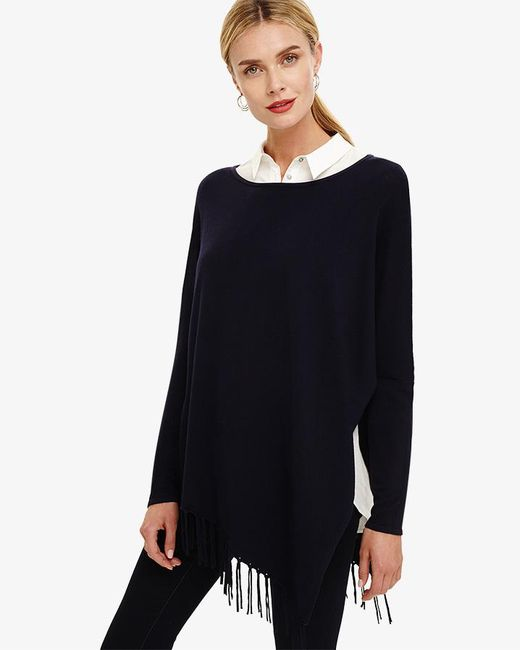 Phase Eight - Blue Athena Tassel Knitted Jumper - Lyst