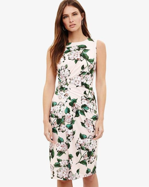 Phase Eight - Multicolor Cam Floral Print Dress - Lyst