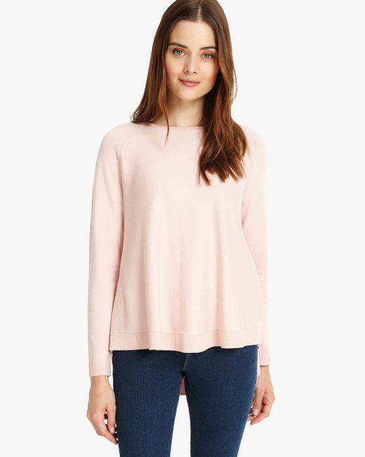 Phase Eight - Pink Terza Zip Back Swing Knit - Lyst
