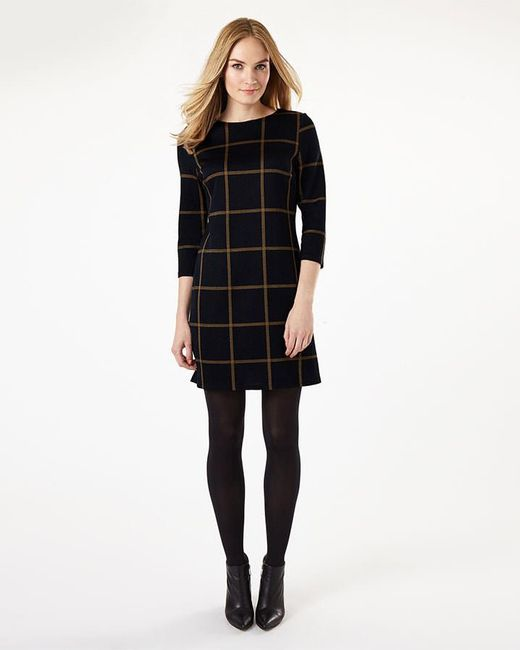 Phase Eight - Blue Check Ponte Tunic Top - Lyst
