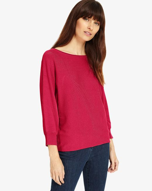 Phase Eight - Pink Smart Becca Batwing Knit - Lyst