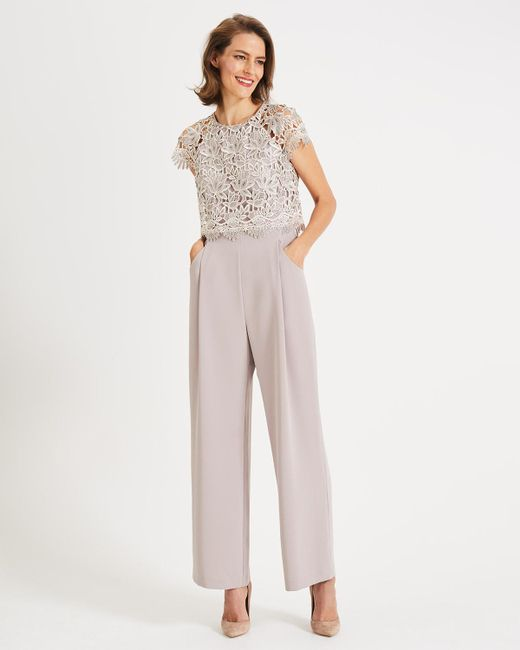 8ad46610fa7 Phase Eight - Natural Katy Lace Jumpsuit - Lyst ...