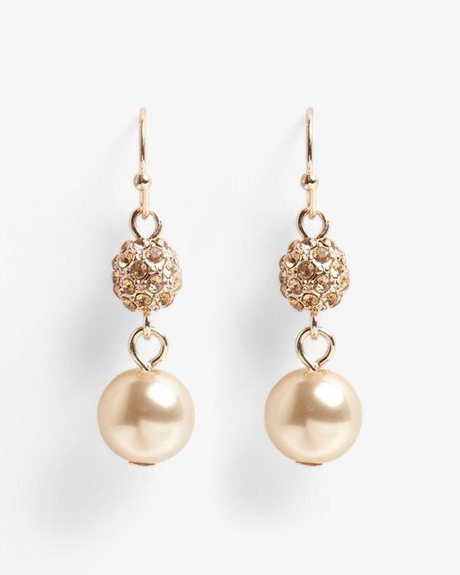 Phase Eight - Multicolor Bettina Faux Pearl And Pave Drop Earrings - Lyst