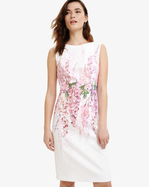 Phase Eight - Pink Jessica Printed Floral Dress - Lyst