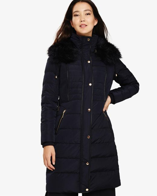 Phase Eight - Blue Brisa Long Puffer Coat - Lyst