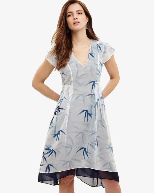 Phase Eight - Blue Fay Palm Print Dress - Lyst