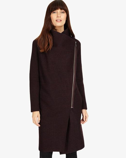 Phase Eight | Black Byanca Zip Coat | Lyst