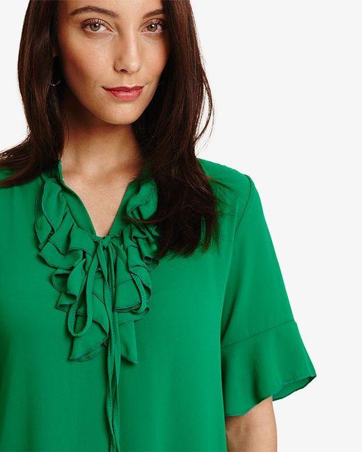 a1f0b3ccdbf ... Phase Eight - Green Sarah Frill Dress - Lyst ...