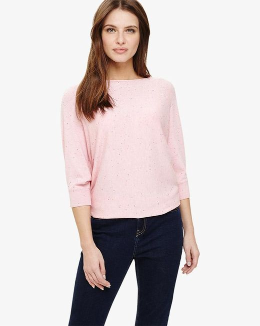 Phase Eight - Pink Becca Coloured Fleck Knitted Top - Lyst