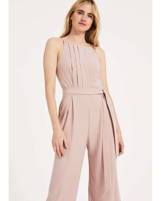 Phase Eight - Pink Yvonne Lace Back Jumpsuit - Lyst