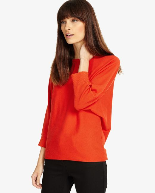 Phase Eight - Red Smart Becca Batwing Knit - Lyst