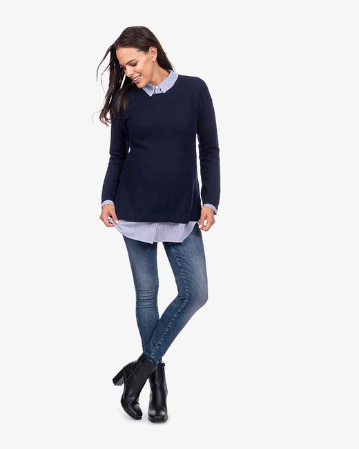 ... Phase Eight - Blue Emily Maternity Layered Nursing Jumper - Lyst ... 8be4a0ea5