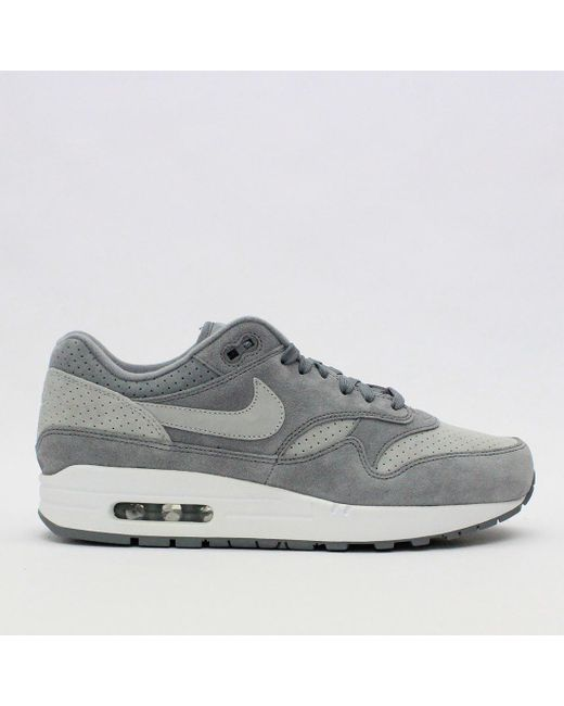 4bfcdf5a2f00 Nike Trainers - Gray Nike Air Max 1 Premium Cool Grey 875844 005 for Men ...