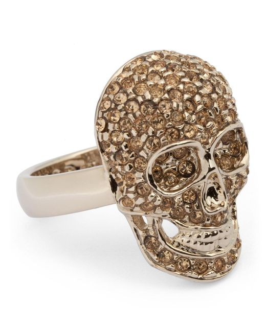 Philipp Plein - Metallic Embellished Skull Ring - Lyst