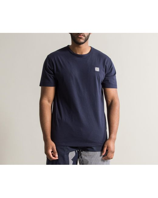 d0a91dd4 ... Stone Island - Patch Logo T-shirt Indigo Blue for Men - Lyst ...