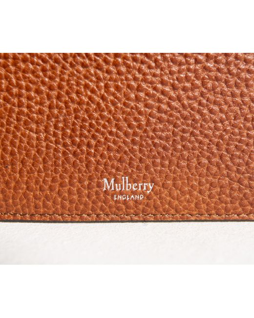 7fa0fb7d705 ... where can i buy mulberry brown 8 card leather coin wallet oak for men  lyst 2ad66