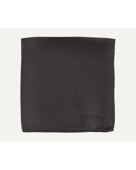 BOSS - Black Fine Stripe Silk Pocket Square for Men - Lyst