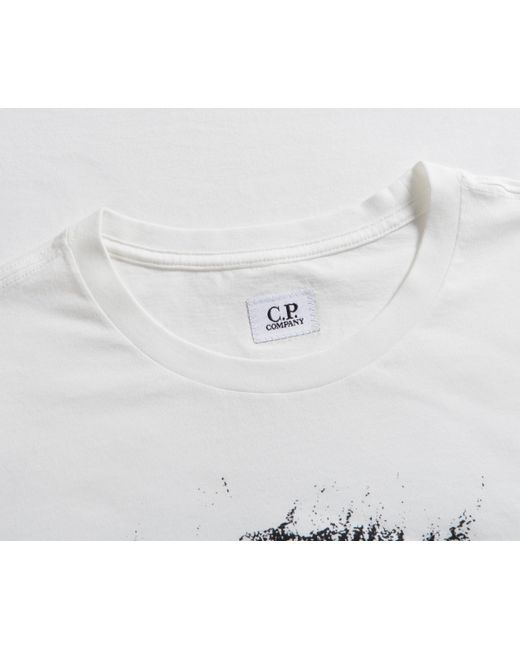 2ffcc5976016 Lyst - C P Company  019  Printed T-shirt Off White in White for Men