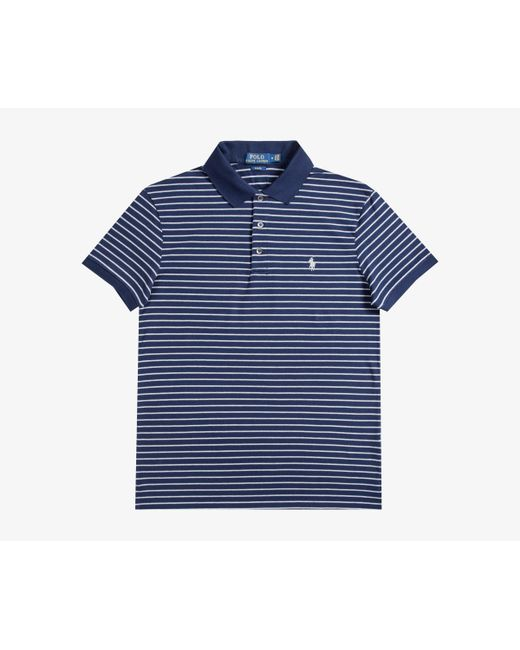 Ralph Lauren - Blue Slim Fit Striped Polo French Navy/andover Heather for Men - Lyst
