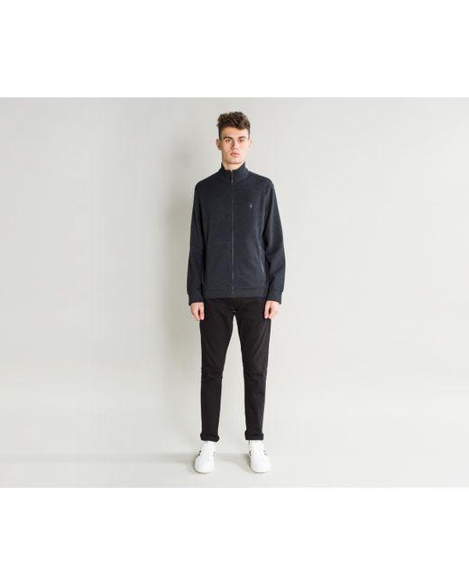 Polo Ralph Lauren - Blue Full Zip Funnel Collar Knitted Fleece Navy Heath for Men - Lyst