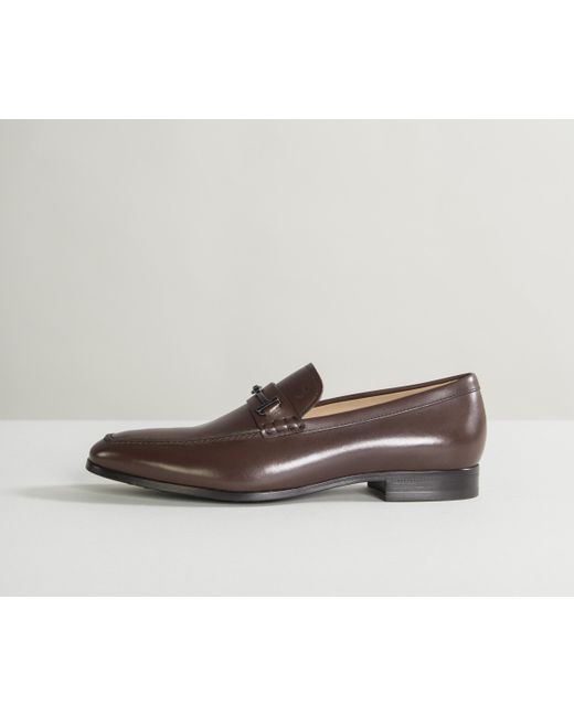 a46bc23b191 Tod s - Classic Leather Loafers With T-bar Detail Brown for Men - Lyst ...