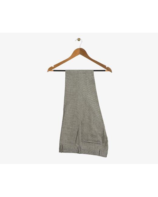 Paul Smith - Soho Gingham Check Linen Formal Trousers Brown/white for Men - Lyst
