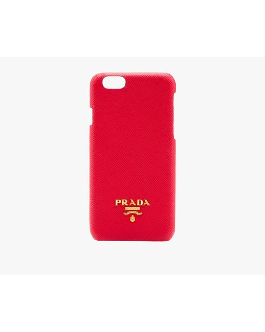 Prada | Red Iphone Cover | Lyst