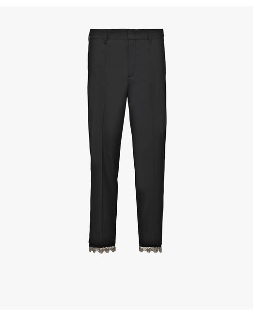 Prada - Black Wool Pants - Lyst